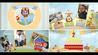 Birthday After Effects template - Children Memory Album and Birthday Invitation Boy version