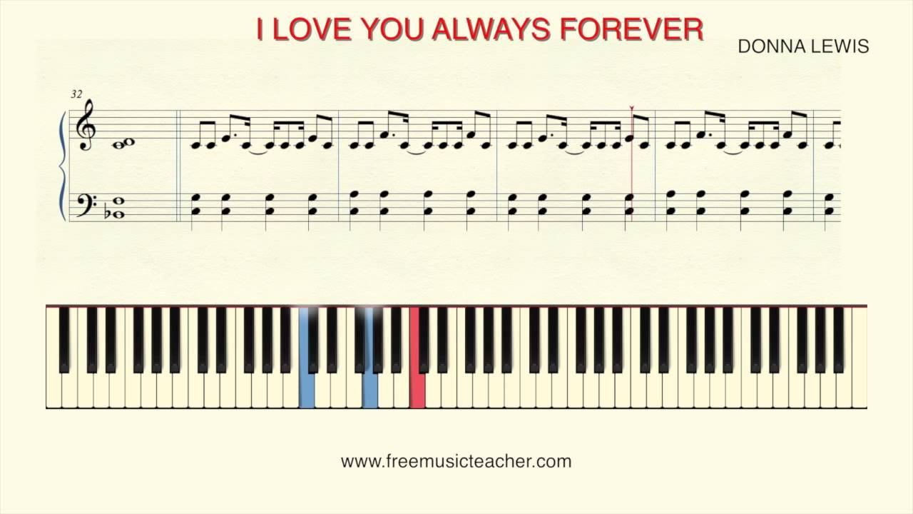 How to play piano i love you always forever donna lewis youtube how to play piano i love you always forever donna lewis hexwebz Choice Image