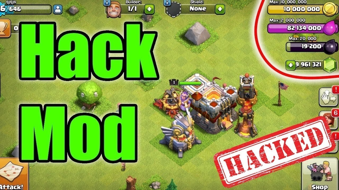 clash of clans mod apk android 1 2017