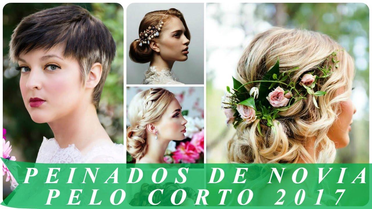 Peinados para novias cabello corto 2017
