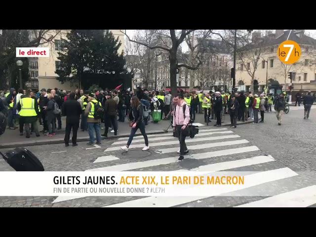 Le direct : Gilets Jaunes. Acte XIX, le pari de Macron (1/3)