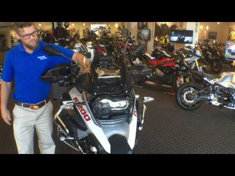 "Jay ""Bond"" Gwaldis 2016 BMW R1200GSA delivery in the store at Frontline Eurosports"