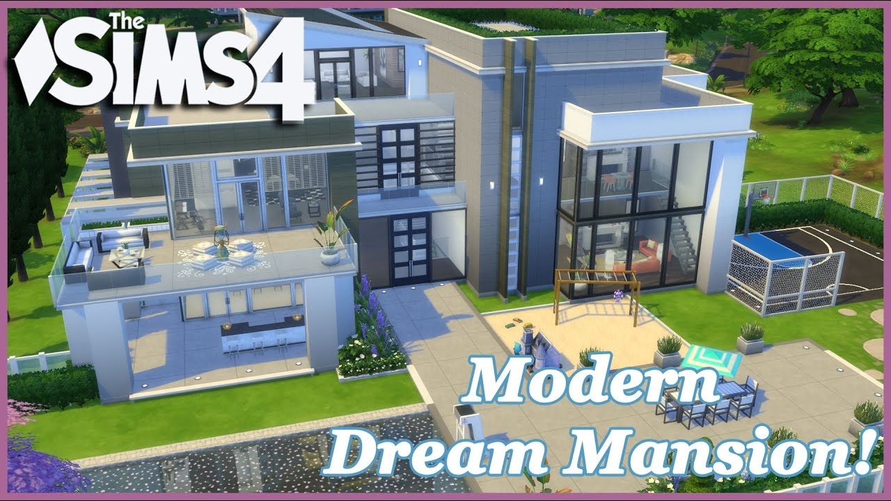 The sims 4 modern dream mansion 3 3 house build youtube for Dream house builder