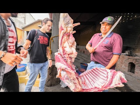 Mexican Food MEAT NINJA | Trying to Eat A WHOLE 80 KG Lamb ⚔️The Most SATISFYING Mexican Street Food