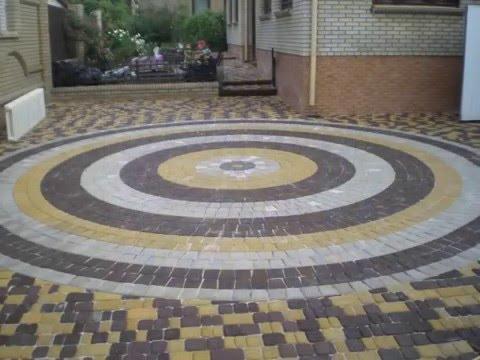 Тротуарная плитка Старый город. Схемы укладки, самое необычное сочетание цветов.