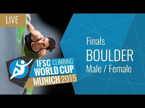[LIVE] IFSC Climbing World Cup Munich 2015 - Bouldering - Finals - Male/Female