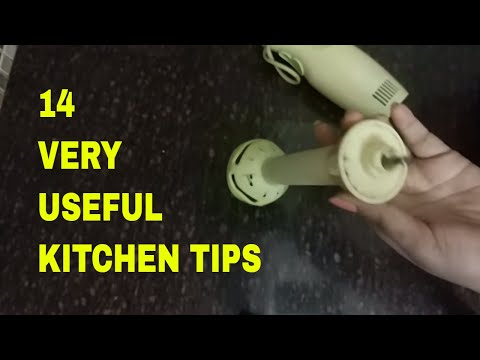 14 new most useful kitchen  tips & tricks in hindi 2018 - kitchen hacks / KITCHEN CLEANING TIPS