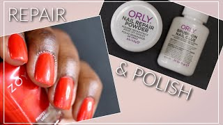 Orly Nail Rescue Demo and Manicure