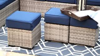 Belham Living Monticello All-weather Wicker Sofa Sectional Set - Product Review Video