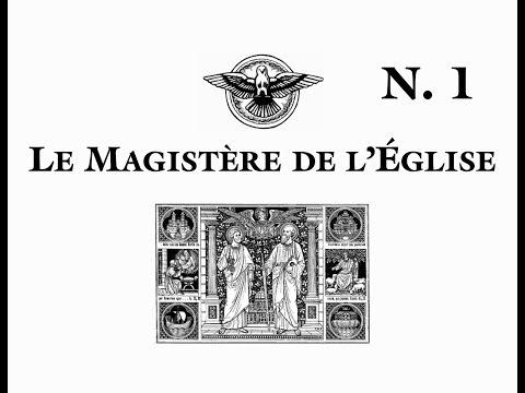 Le Magistère de l'Église. Notions fondamentales. Introduction.