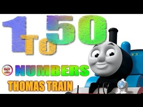 Loop - 1 to 50 counting with THOMAS TRAIN Memorize Number  60 Min. Non-Stop