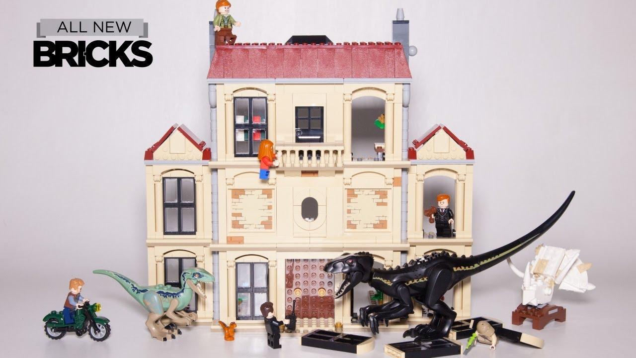 Lego Jurassic World Indoraptor Rampage at Lockwood Estate Lego Speed Build 75930