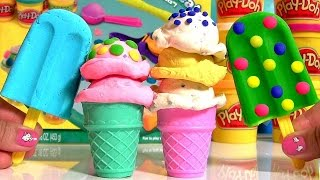 play doh scoops n treats ice cream waffles popsicles helados de playdough friandises glacees