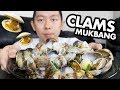 CLAMS Mukbang [with Boozy Butter Sauce] + Storytime | Seafood Boil Mukbang, Shellfish Eating Show