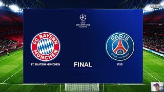 New kit 20/21 season bayern munich vs paris saint-germain (psg) | final uefa champions league ucl gameplay pc neymar gnarby pes 2020 subscribe pleas...