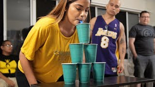 Balloon Pyramid | Balloon Cup Stacking! (Minute to Win It)