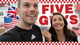 🇬🇧Trying the British FIVE GUYS! 🇺🇸