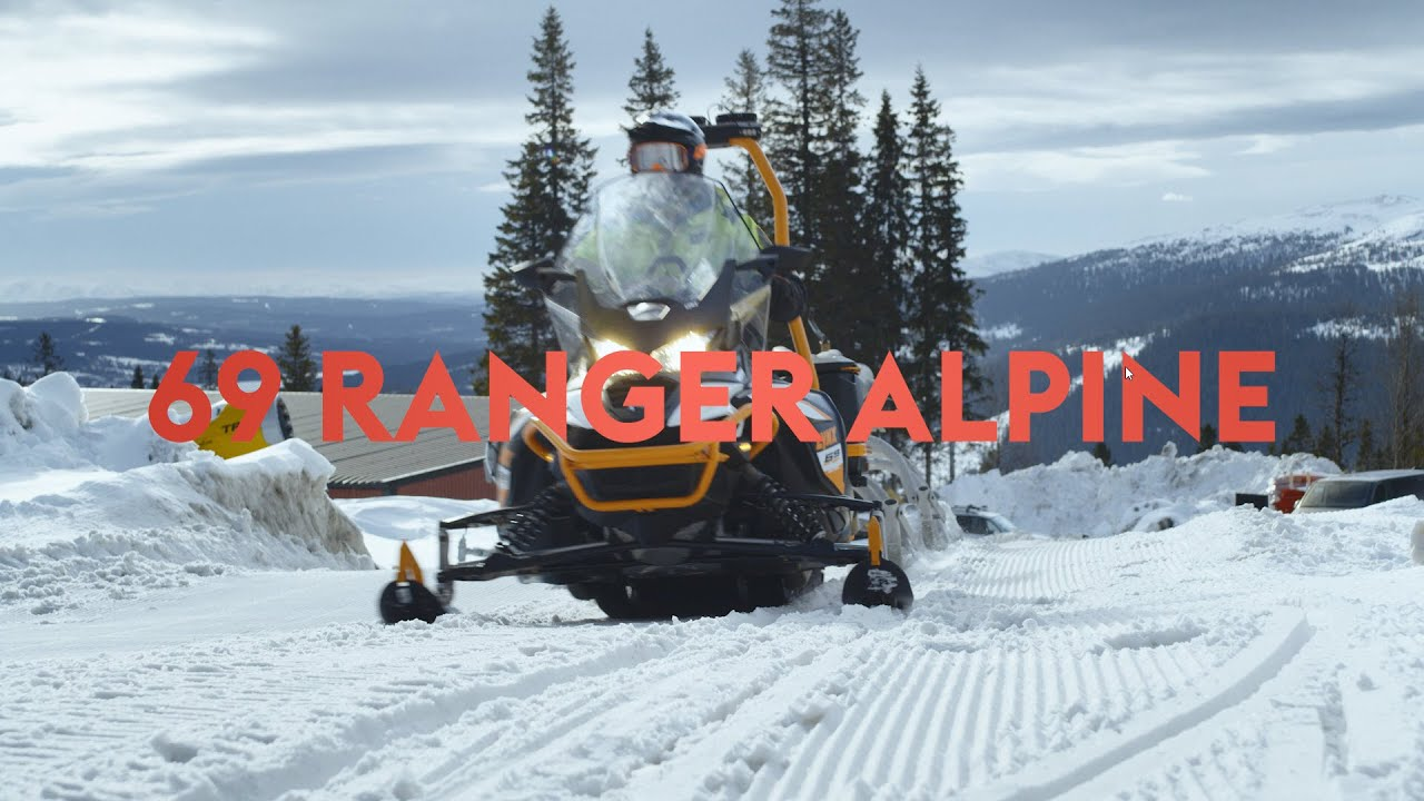 Transporting a Snow Cannon with Lynx 69 Ranger Alpine Snowmobile