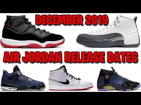 DECEMBER 2019 AIR JORDAN RELEASE DATES