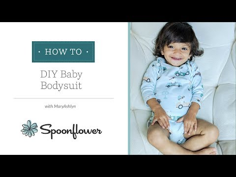 Adorable Baby Onesie with Free Pattern | Spoonflower Tutorials