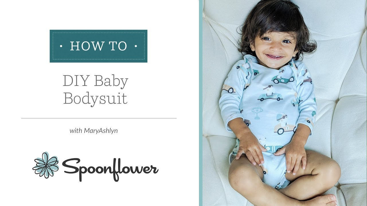 Adorable Baby Onesie with Free Pattern   Spoonflower Tutorials - YouTube