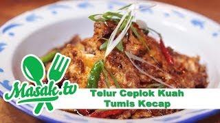 Telur Ceplok Kuah Tumis Kecap - Sweet Soy Sauce Stir Eggs Recipe | Resep #133