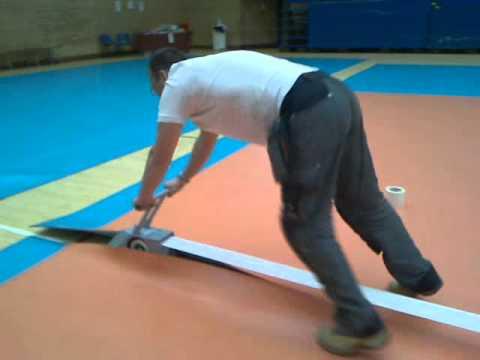 laying gerflor's taraflex flooring (3 of 3) - youtube