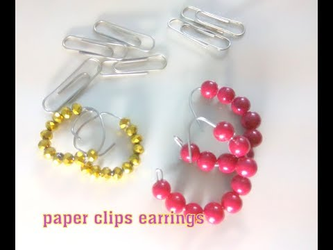 five minute craft diy paper clip earrings   worthy things to do when bored at home