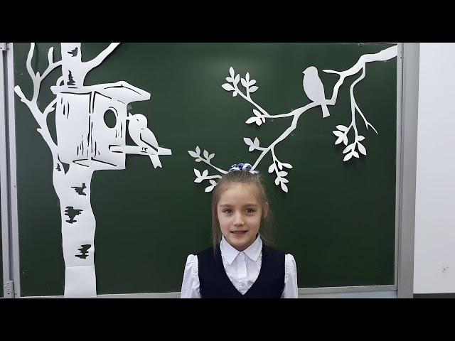 Изображение предпросмотра прочтения – ДарьяУльянова читает произведение «Весна (Уж тает снег...)» А.Н.Плещеева