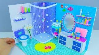 как сделать ванную комнату для кукол монстер хай