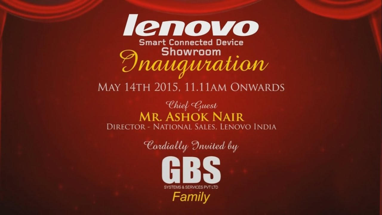 Lenovo Digital Invitation Phoenix Market City Gbs Youtube