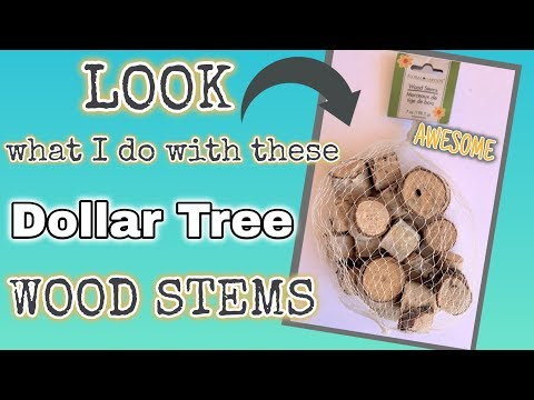 LOOK what I do with these Dollar Tree WOOD STEMS | AWESOME DIY
