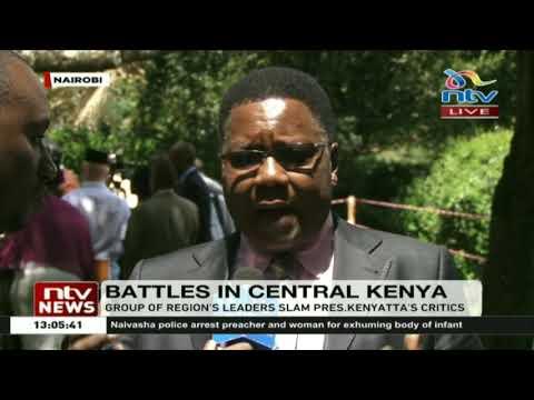 Group of Central Kenya leaders slam President Kenyatta's critics
