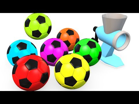 Thumbnail: Learn Colors for Kids w Soccer Balls & McQueen - Superheroes Learning Video for Children Babies