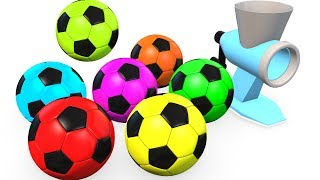 Learn Colors for Kids w Soccer Balls & McQueen - Superheroes Learning Video for Children Babies