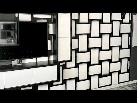 3D декор стен своими руками. Покрасить обои не под покраску.