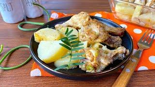 Картошка с курицей в микроволновке видео рецепт