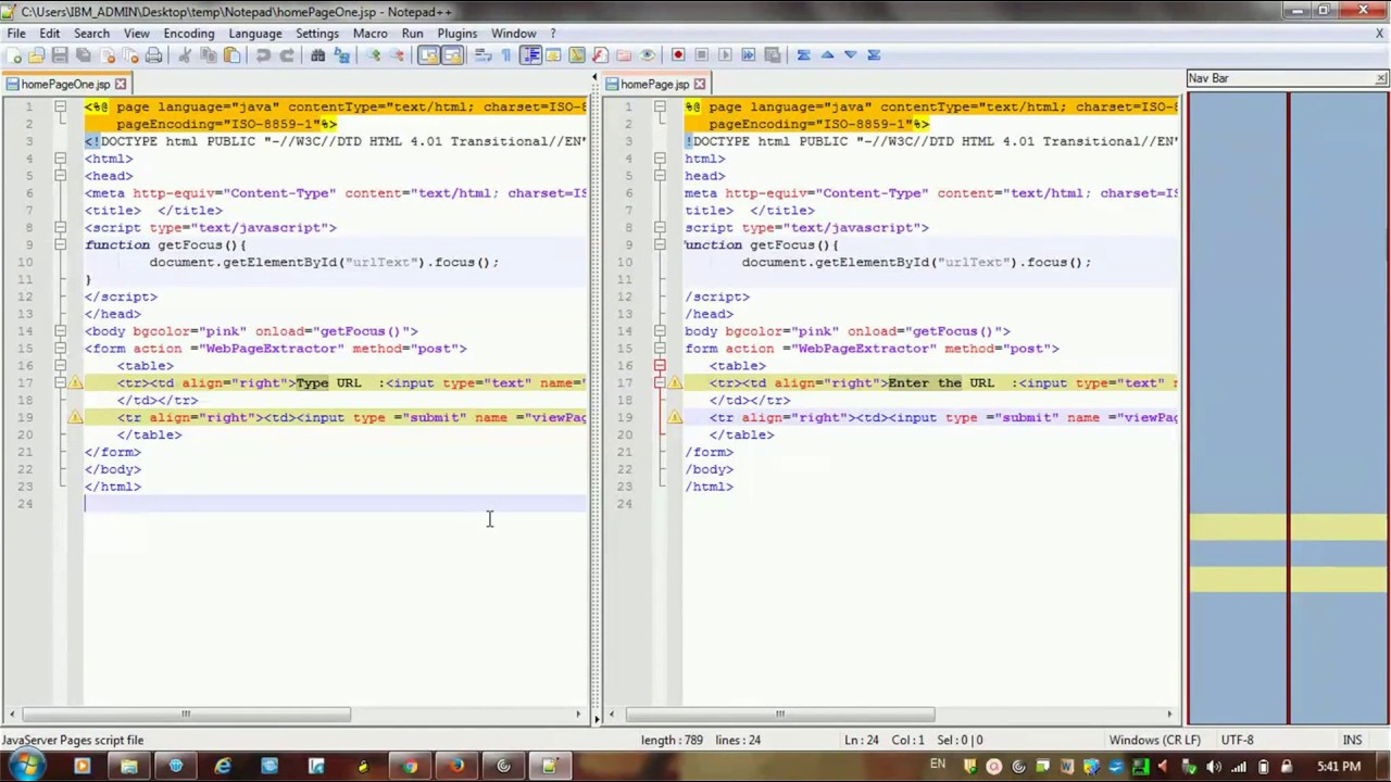 How to Compare two files in Notepad++