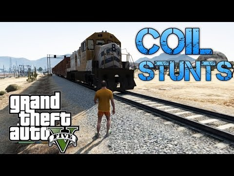 Grand Theft Auto V | COIL STUNTS & PLANE TRICKS