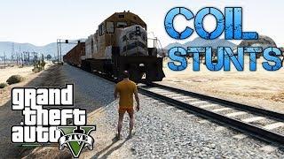 Grand Theft Auto V | COIL STUNTS & PLANE TRICKS