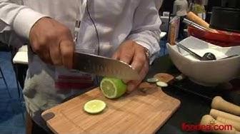 How to Make a Caipirinha with Pitu Cachaca at SIAL 2013 - Foodea.com