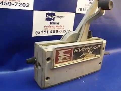 FOR SALE - Evinrude/Johnson/OMC/Gale Dual (2) Lever Simplex Remote Control  Box $124 95 PK-18-6