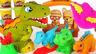 Play Doh Rex the Chomper Dinosaur Playset! and play in a Pinkfong Music instruments! #PinkyPopTOY
