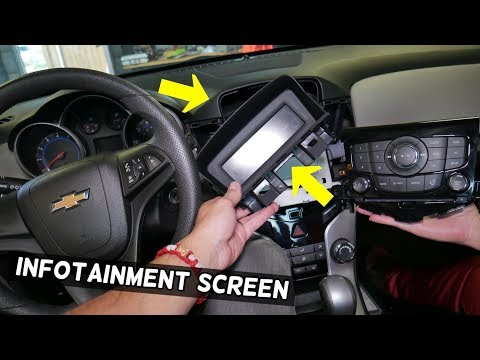 CHEVROLET CRUZE INFORMATION SCREEN DISPLAY REMOVAL REPLACEMENT. DASH SCREEN REMOVAL