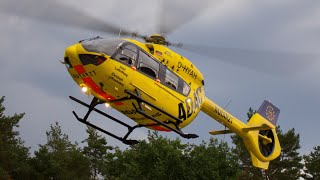 Landung Rettungshubschrauber Christoph Brandenburg (D-HYAH) in Hennigsdorf