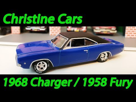 Christine 1968 Dodge Charger & 1958 Plymouth Fury 1:64 Diecast Unboxing Review