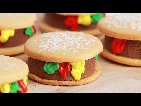 CHEESEBURGER ICE CREAM SANDWICHES - NERDY NUMMIES