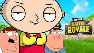 Family Guy Characters playing Fortnite