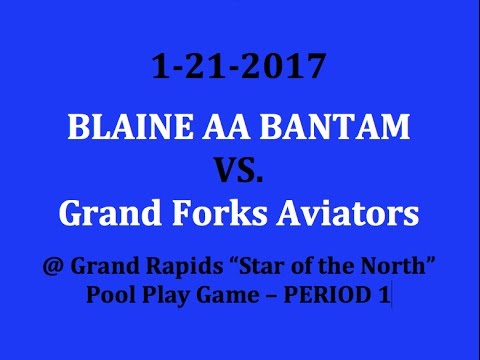1-21-2017 vs. Grand Forks Aviators (Pool Play) Period 1