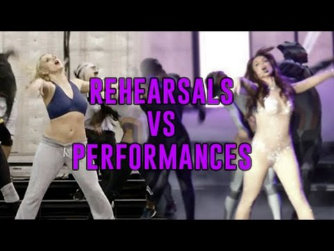 Britney Spears - Rehearsals vs Performances (Las Vegas Show Piece Of Me)